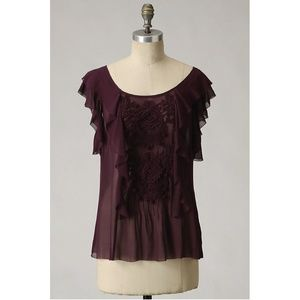 Anthropologie Blackberry Infusion Blouse